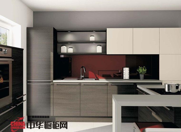 浅色系整体橱柜设计效果图 简约风格厨房整体橱柜效果图欣赏