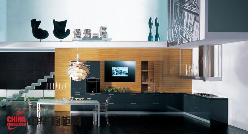 时尚博洛尼橱柜效果图 厨房整体橱柜效果图