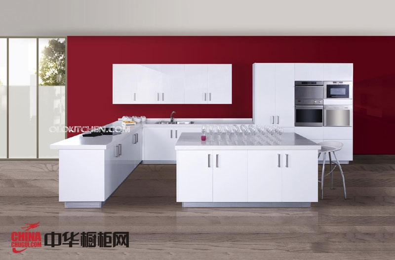 现代风格整体橱柜效果图 白色烤漆橱柜图片 我乐橱柜2013最新款整体橱柜图片