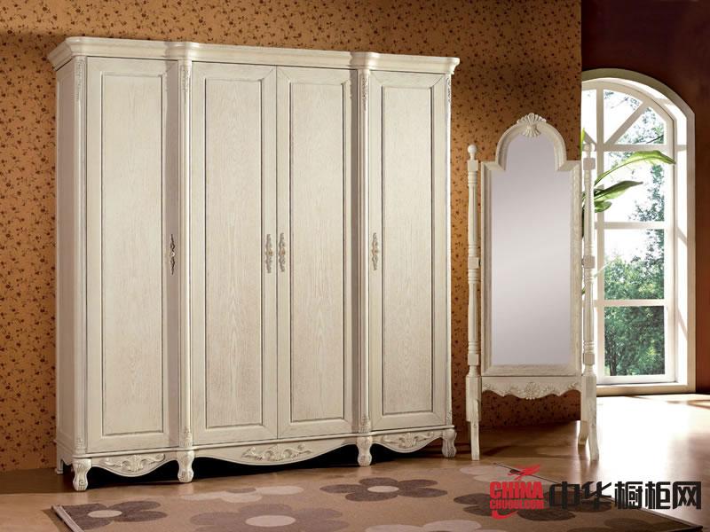 欧式风格整体衣柜图片 实木衣柜设计图欣赏