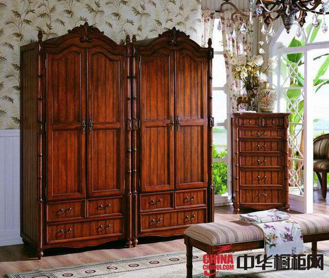 古典风格整体衣柜效果图 实木衣柜设计效果图欣赏