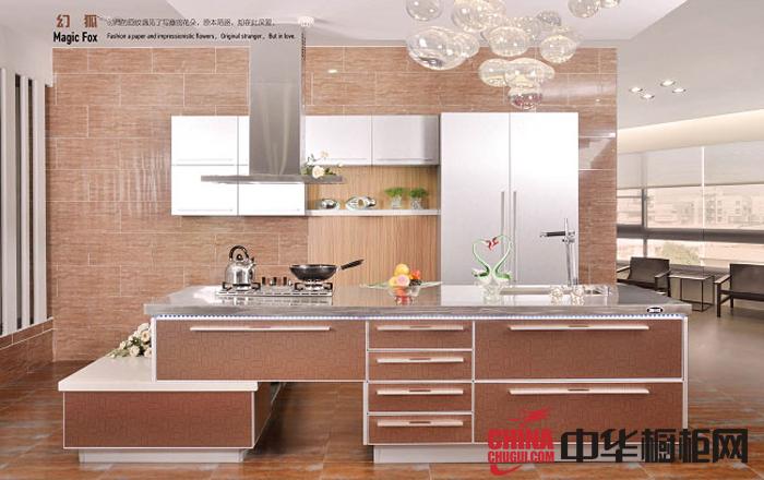 香槟色整体橱柜设计效果图片 亮面烤漆橱柜图片 开放式橱柜设计图欣赏