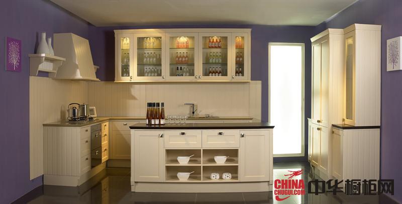 简欧风格实木橱柜图片 厨房装修效果图欣赏