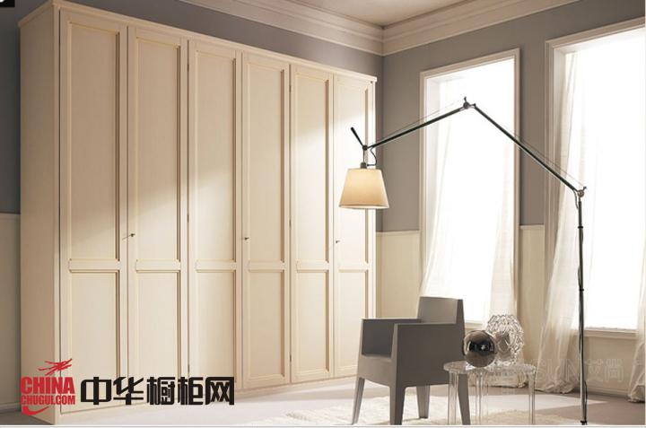 白色烤漆大衣柜效果图 简欧风格整体衣柜设计图欣赏