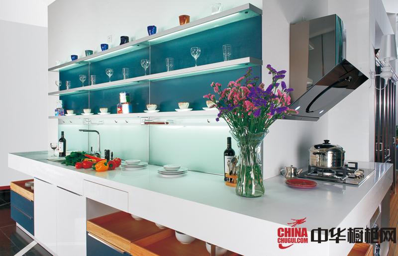 简约风格整体橱柜装修设计效果图片 厨房装修效果图大全2012图片欣赏