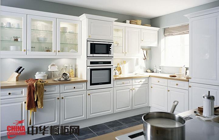 现代欧式风格橱柜图片 白色实木橱柜效果图欣赏