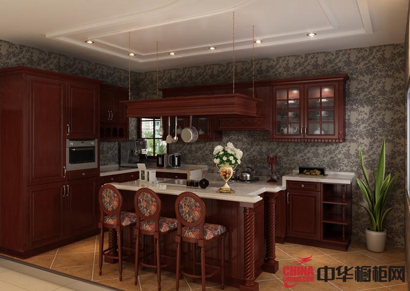 古典实木橱柜图片飘出原木香味 普诺顿橱柜2012最新款整体橱柜图片