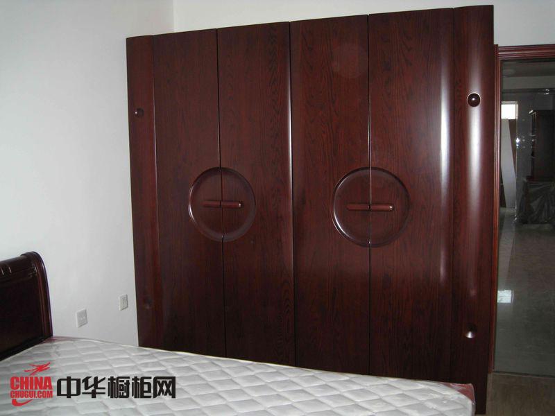 中式衣柜实景图展示 实木衣柜样板图欣赏