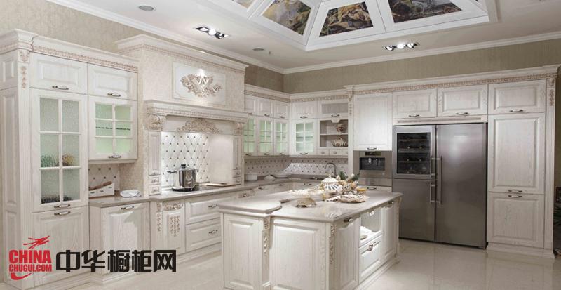白色欧式橱柜图片|实木橱柜图片 厨房装修效果图大全2012图片
