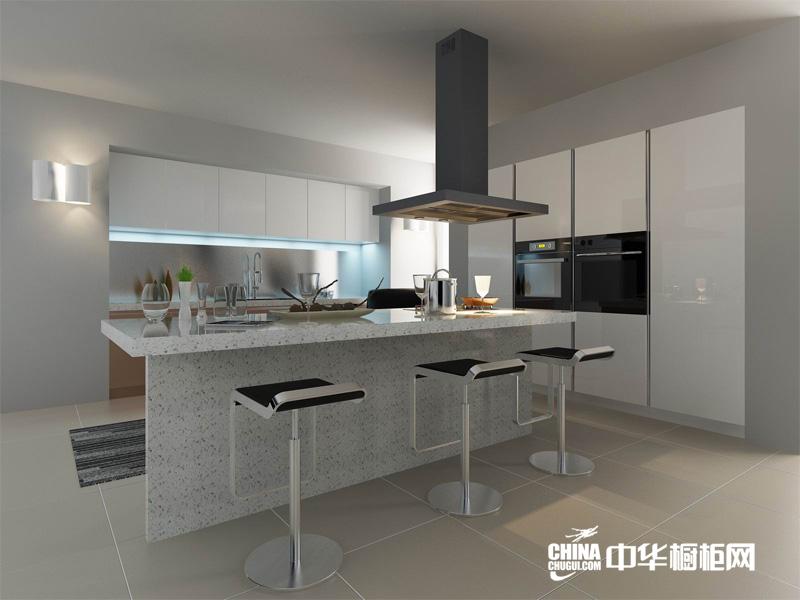 白色烤漆现代厨房设计图 布达佩斯系装修设计效果图片