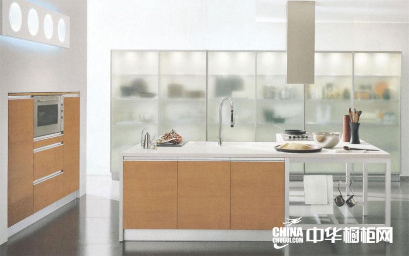 现代简约整体橱柜设计图片 开放式厨房装修效果图大全