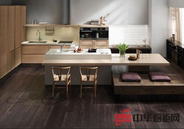 简约风格橱柜效果图片欣赏 开放式厨房装修效果片大全