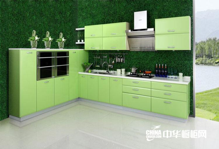 简约清新整体厨房效果图片 柠檬香苑整体橱柜装修设计