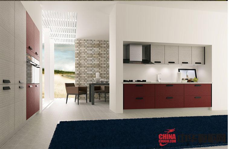 现代时尚整体橱柜效果图片 2013厨房装修效果图片大全