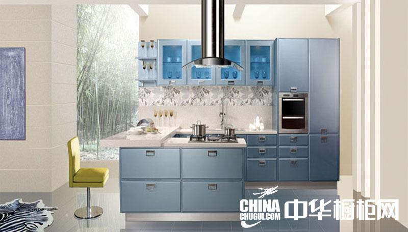 现代烤漆橱柜设计效果图片 开放式厨房装修效果图片