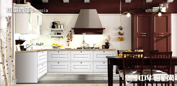 2013整体厨房装修效果图片 布雷西亚整体橱柜装修图片