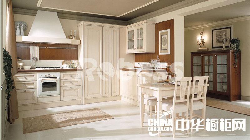 乐保士生态厨柜 欧式简约白色实木整体橱柜效果图
