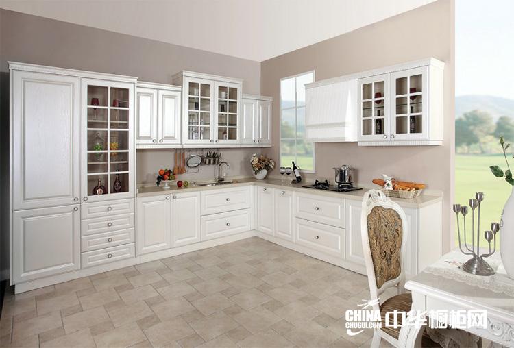 欧式田园开放式厨房效果图 枫丹丽舍整体橱柜装修图片图片