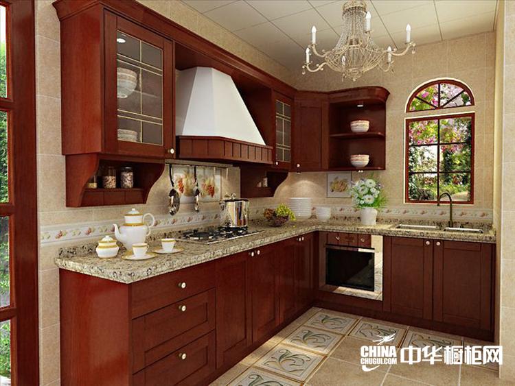 普吉岛整体厨房装修效果图 宁静温婉整体橱柜装修图片