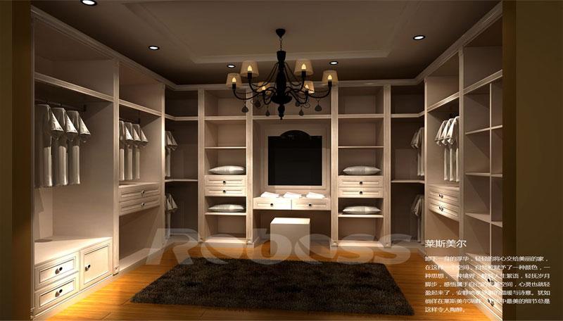 欧式简约整体衣柜效果图 实木整体衣柜图片