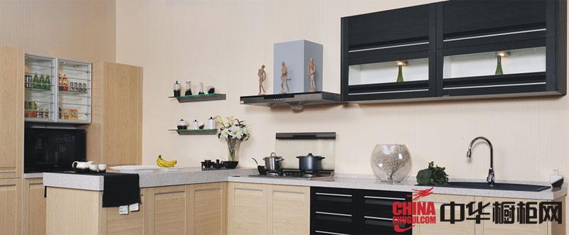 原木色整体厨房橱柜效果图 厨房装效果图大全2012图片