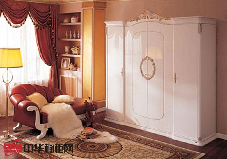 简欧风格整体衣柜设计图 白色烤漆大衣柜效果图展示