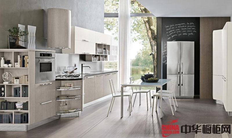 【整体橱柜图片】小户型厨房装修效果图大全 一字型整体橱柜效果图