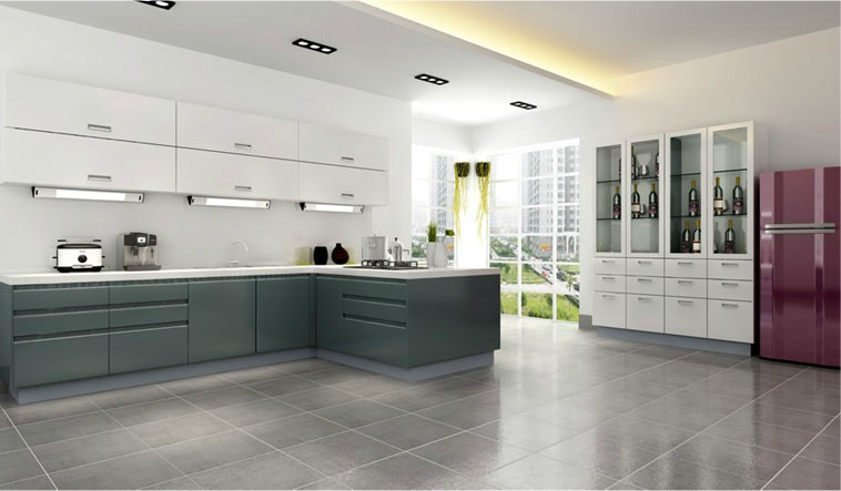 简约风格康洁整体橱柜图片 开放式厨房装修效果图大全2012图片