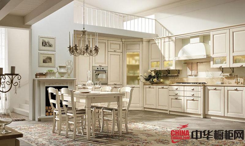 实木橱柜图片欧式橱柜图片 开放式厨房装修效果图欣赏