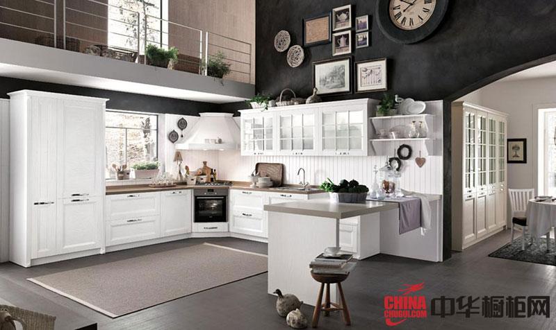 实木橱柜图片 厨房效果图 欧式厨房装修效果图大全