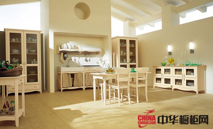 欧式田园风格整体橱柜图片 厨房装修效果图大全2012图片