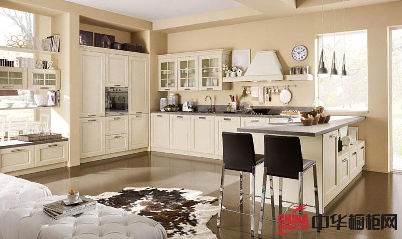 欧式橱柜图片 欧式橱柜效果图 白色实木橱柜图片欣赏