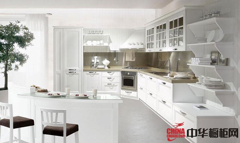 纯白色烤漆橱柜图片 欧式橱柜图片 实木橱柜图片展示