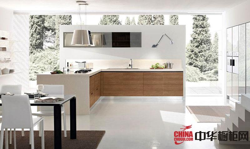 简约风格白色烤漆橱柜图片 L型整体橱柜效果图欣赏