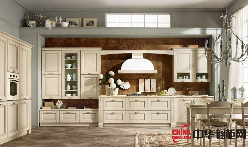 欧式橱柜图片,实木橱柜图片,厨房橱柜图片,厨房装修效果图大全2012