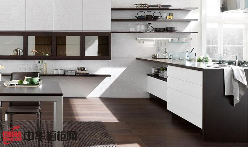 2013年最新款整体橱柜图片 开放式厨房装修效果图欣赏