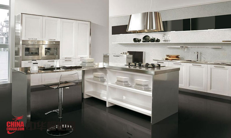 现代时尚风格整体橱柜效果图 不锈钢整体橱柜图片
