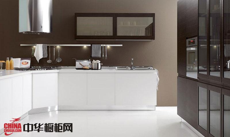 簡約風格整體櫥柜設計效果圖 l型廚房裝修效果圖欣賞