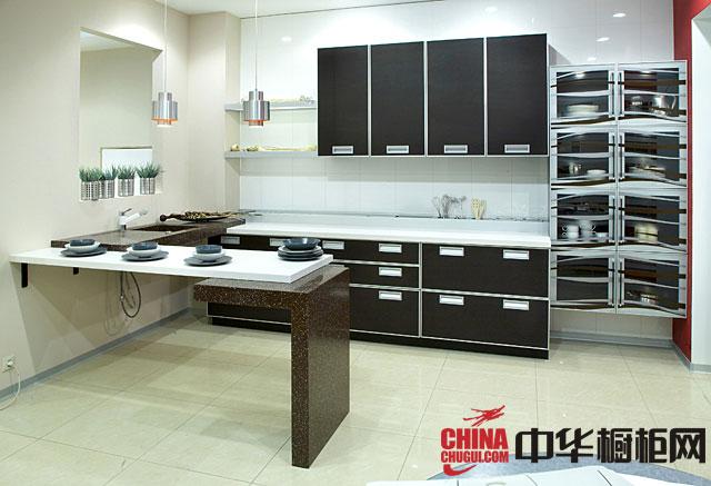 黑色系列最新款整体橱柜图片 厨房装修效果图大全2012图片