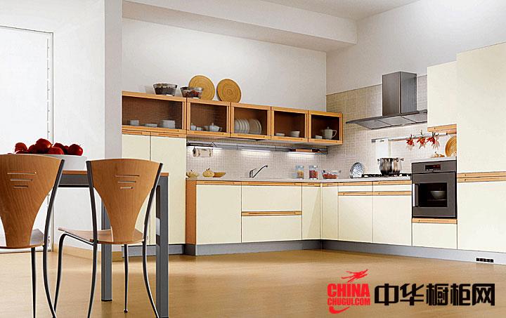 l型简欧式橱柜效果图 开放式厨房装修效果图大全2012图片