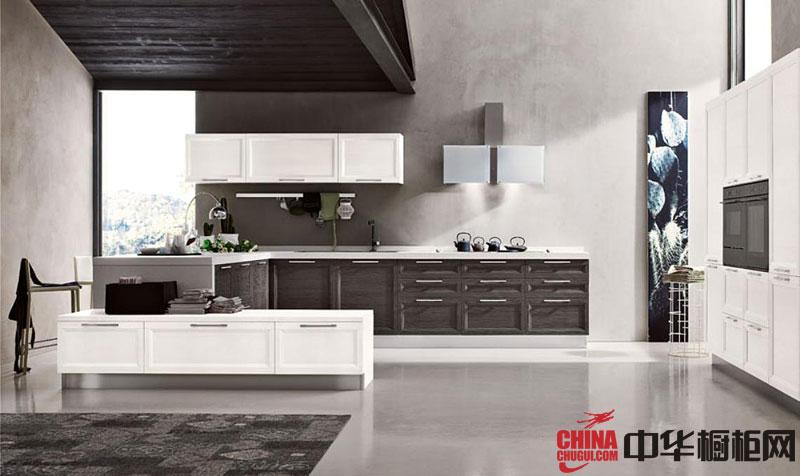 2013年最新款简欧风格整体橱柜图片 灰色系厨房装修效果图欣赏