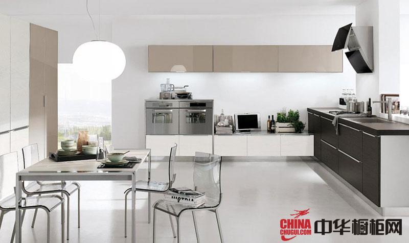 现代风格开放式厨房装效果图大全2012图片 香槟色烤漆橱柜图片