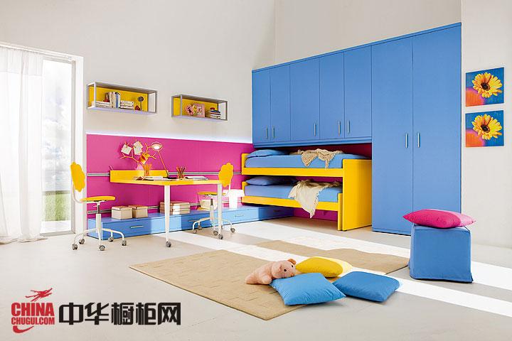 最新款整体衣柜设计效果图 儿童卧室衣柜装修效果图