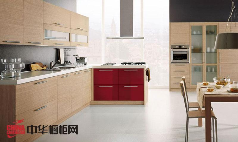 现代简约风格整体橱柜图片 l形厨房装修效果图大全