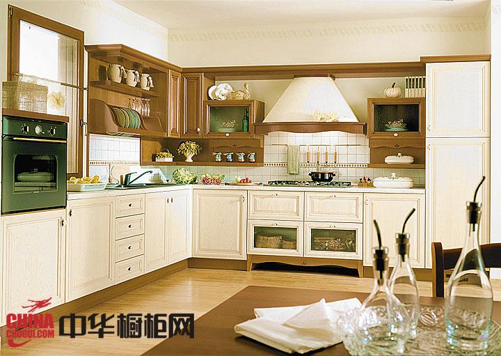 欧式风格整体橱柜效果图 开放式厨房装修效果图