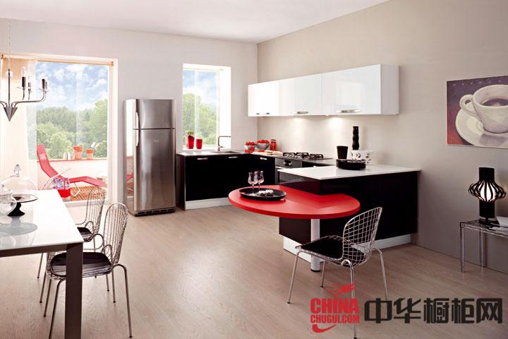 开放式整体厨房设计效果图 烤漆橱柜效果图