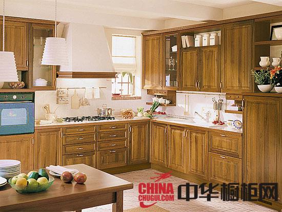 整体厨房装修效果图 实木橱柜图片