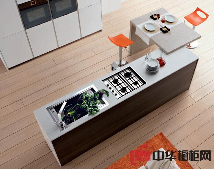 整体厨房装修效果图 开放式厨房设计效果图