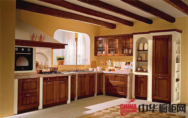 新古典实木橱柜图片 彰显贵族生活方式