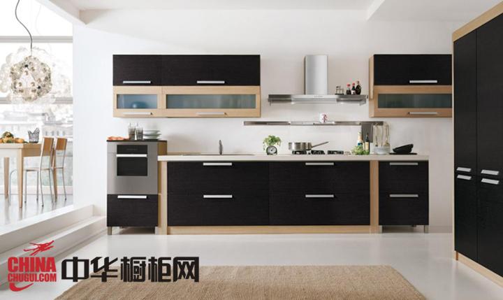 黑色厨房橱柜效果图 让你的厨房顿时精致起来
